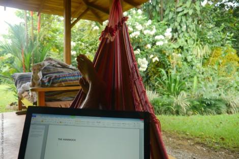 www.restartexperiment.com, hammock, costa rica, jungle living, writer